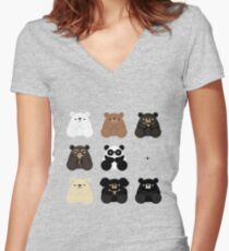Types of bears Women's Fitted V-Neck T-Shirt