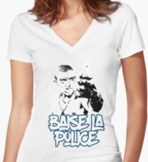 la haine the hate anti police acab movies film france french paris hip hop Women's Fitted V-Neck T-Shirt