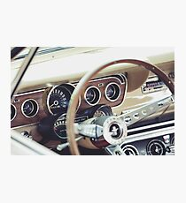 Classic Ford Mustang Dashboard Photographic Print
