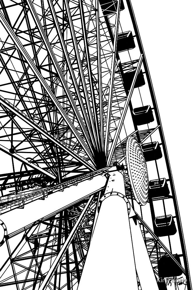 Seattle Great Wheel by KirtTisdale