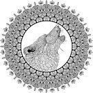 Howling Wolf Mandala by WelshPixie