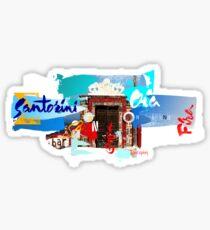 Santorini Door. Sticker