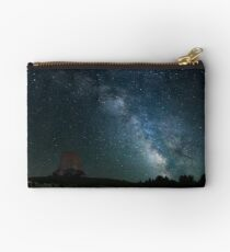 Devil's Tower with Milky Way Studio Pouch