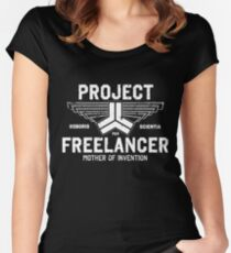 Red vs. Blue  - Project Freelancer Women's Fitted Scoop T-Shirt