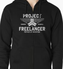 Red vs. Blue  - Project Freelancer Zipped Hoodie