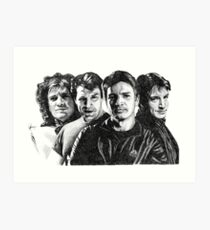 The Many Faces of Nathan Fillion Art Print