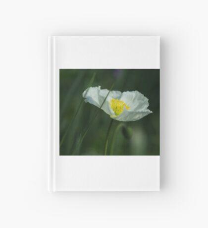 Good Morning White Poppy Hardcover Journal