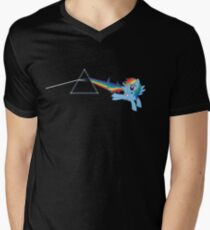 Rainbow Dash: Dark side of the moon (Brony) Mens V-Neck T-Shirt