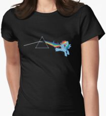 Rainbow Dash: Dark side of the moon (Brony) Women's Fitted T-Shirt