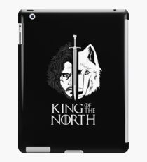 White Wolf Snow King of The North iPad Case/Skin