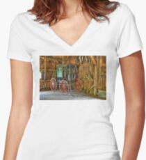 Wagon lost in storage Women's Fitted V-Neck T-Shirt