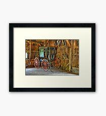 Wagon lost in storage Framed Print