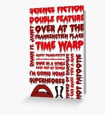 Rocky Horror Picture Show-Chansons Carte de vœux