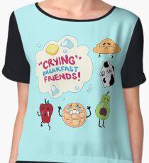 """""""Crying"""" Breakfast Friends! // Steven Universe Women's Chiffon Top"""
