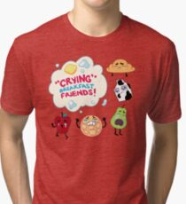 """Crying"" Breakfast Friends! // Steven Universe Tri-blend T-Shirt"