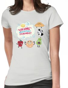 """Crying"" Breakfast Friends! // Steven Universe Womens Fitted T-Shirt"