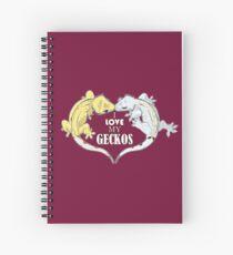 Cuaderno de espiral Amo mis gecos