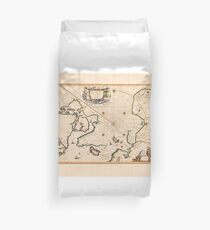 Karte des Nordpols 1650 Bettbezug