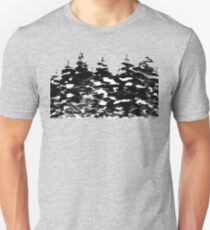 Pines Laden with Snow  Unisex T-Shirt