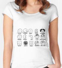 Künstler Tailliertes Rundhals-Shirt