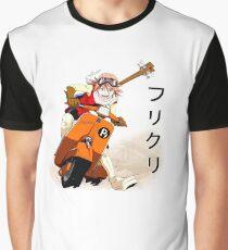 FLCL- Haruko on Vespa Graphic T-Shirt