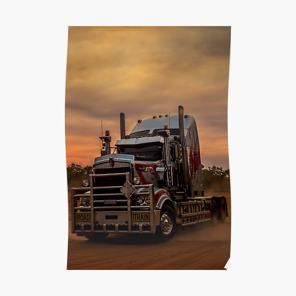 Prime Mover Kenworth truck at Sunset Poster