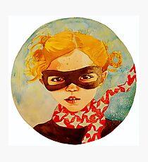 tiny superhero Photographic Print