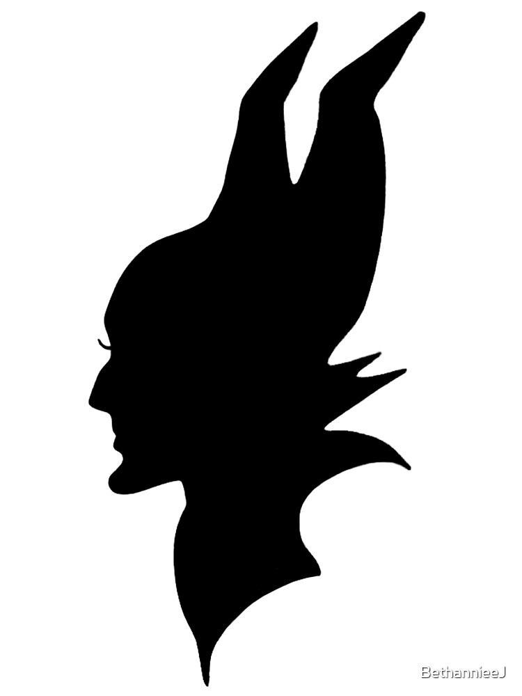 Quot Black Maleficent Silhouette Quot By Bethannieej Redbubble