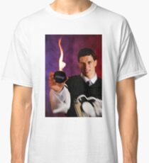Sidney Crosby Holding A Puck On Fire Classic T-Shirt