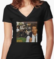 "Huey Lewis - Sports (the perfect thing for the next ""Sports"" day at work/school) Women's Fitted V-Neck T-Shirt"