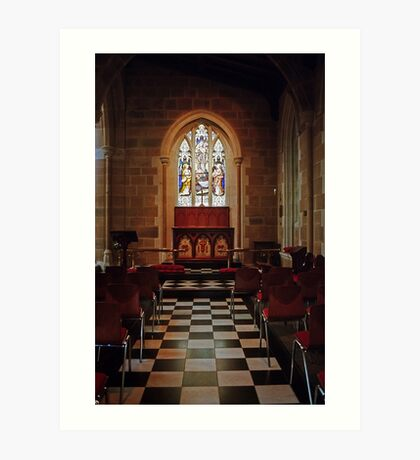 Chapel—St David's Cathedral, Hobart Art Print