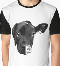 Speciesism Cow Dog Split Face Graphic T-Shirt