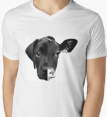 Speciesism Cow Dog Split Face Men's V-Neck T-Shirt
