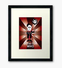 GOTH DR WHO! Framed Print