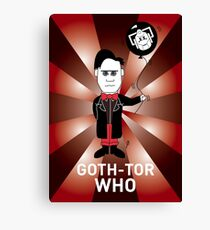 GOTH DR WHO! Canvas Print