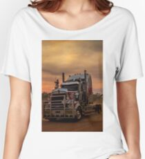 Prime Mover Kenworth truck at Sunset Women's Relaxed Fit T-Shirt