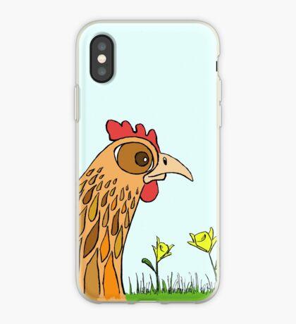 Cute Chicken in Garden iPhone Case