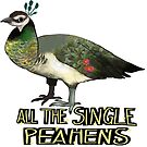 All The Single Peahens by ProfessorBees