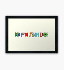 Nintendo Franchises Framed Print