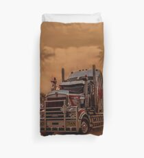 Prime Mover Kenworth truck at Sunset Duvet Cover