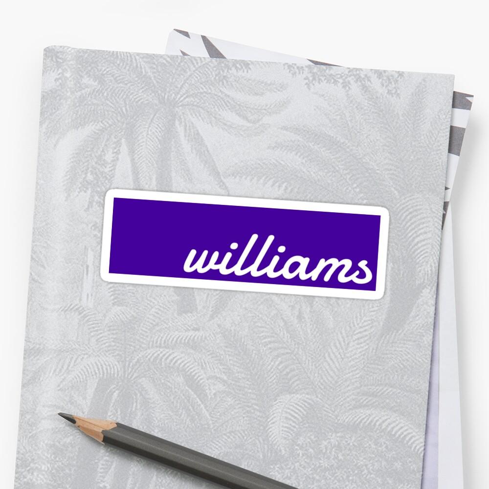 Williams Pegatina