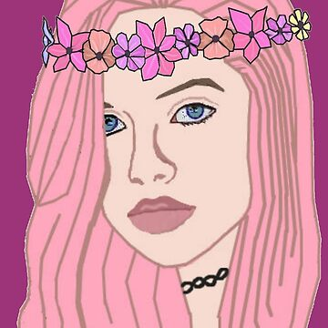 The Girl With The Flower Crown (Pink) by TiffanyCPadgett