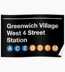 Greenwich Village Station Poster
