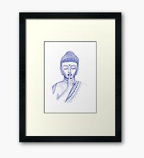 Shh ... do not disturb - Buddha  Framed Print