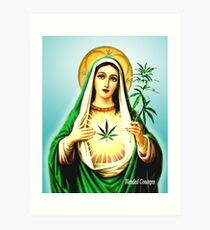 Mother Mary Jane Art Print
