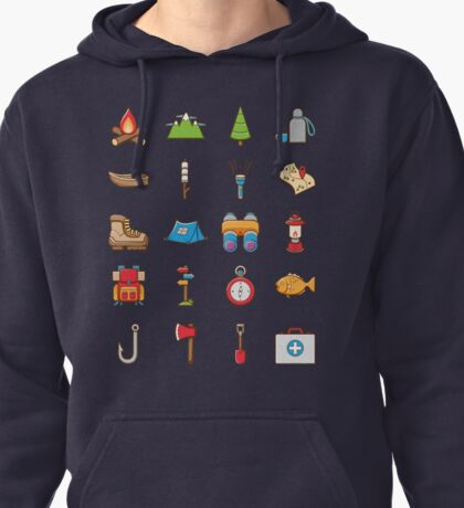 Camping Icon Pullover Hoodie