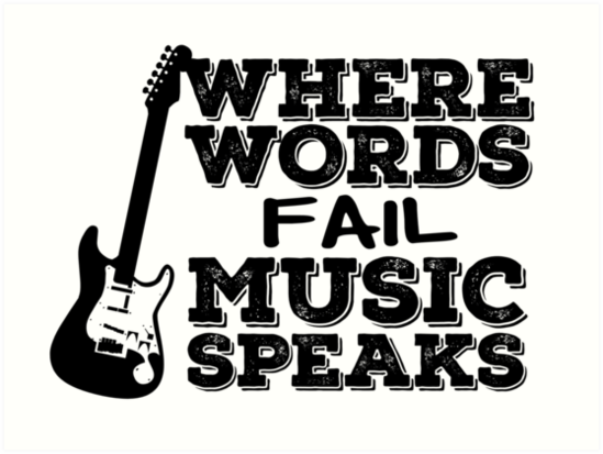 Music Quotes Guitar Music Lover Inspirational Art Prints By
