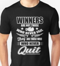 Boxing: Winners are those who never quit Unisex T-Shirt