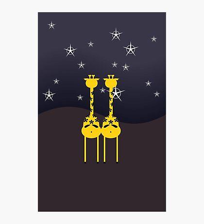 Giraffes in the Night VRS2 Photographic Print
