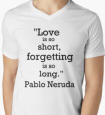 Love is so short Mens V-Neck T-Shirt